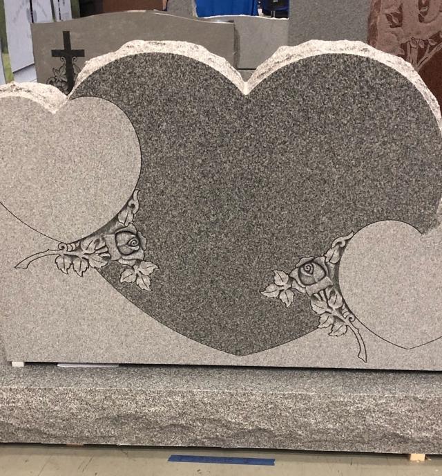 3 Gray Triple Heart